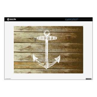 Ancla náutica en el gráfico de madera calcomanía para 38,1cm portátil
