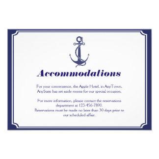 Ancla náutica en el parte movible del boda de la m comunicado personal