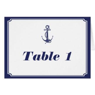 Ancla náutica en la tienda del número de la tabla  felicitaciones