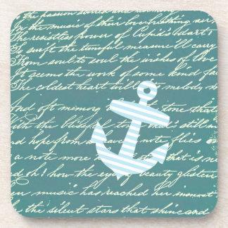Ancla náutica en prácticos de costa del trullo de  posavaso