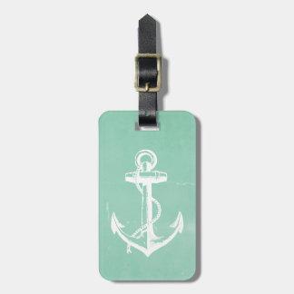 Ancla náutica etiqueta para equipaje