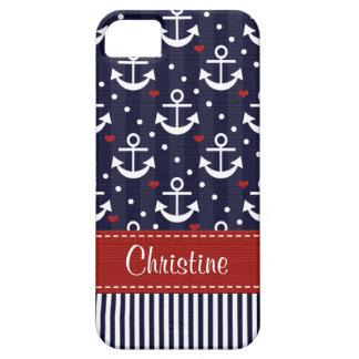 Ancla náutica funda para iPhone 5 barely there