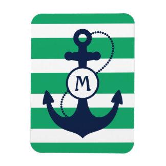 Ancla náutica imán foto rectangular