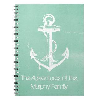 Ancla náutica cuaderno