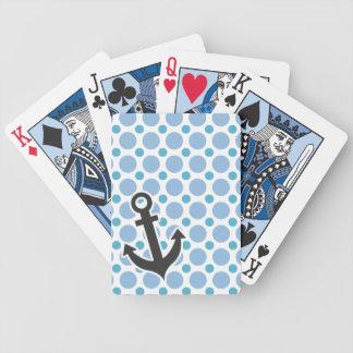 Ancla náutica; Lunares de los azules cielos Baraja Cartas De Poker