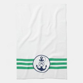 Ancla náutica toallas de mano