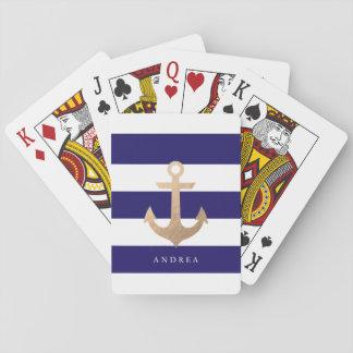 Ancla náutica personalizada del   barajas de cartas