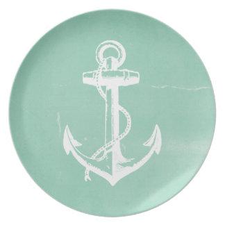 Ancla náutica platos de comidas