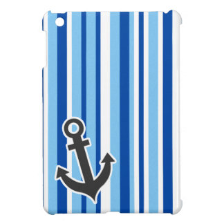 Ancla náutica; Rayas azules y blancas