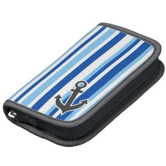 Ancla náutica; Rayas azules y blancas Planificador