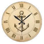 Ancla náutica reloj de pared
