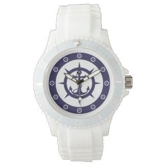 Ancla náutica relojes de mano