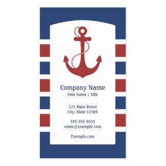 Ancla náutica tarjeta de visita