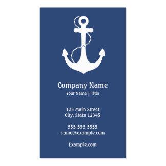 Ancla náutica tarjetas de negocios