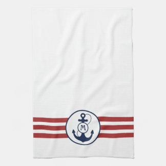 Ancla náutica toallas