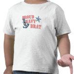 Ancla orgullosa del palo de golf de la marina de g camisetas