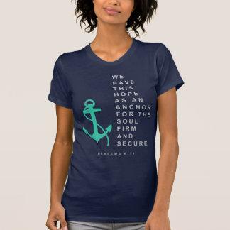 Ancla para el alma (6:19 de los hebreos) camisetas