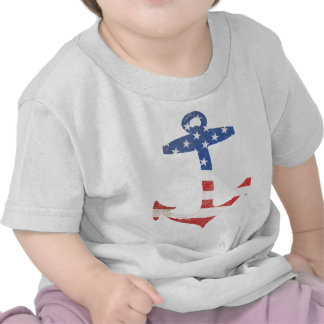 Ancla patriótica los E.E.U.U. náuticos de la Camiseta