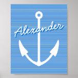 Ancla personalizable náutica del poster el | de la