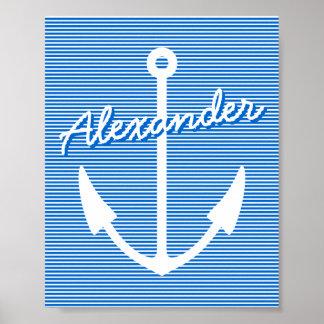 Ancla personalizable náutica del poster el   de la