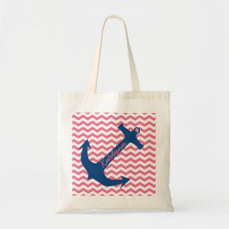 Ancla personalizada de la marina de guerra y la bolsa tela barata