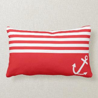 Ancla roja del amor náutica cojín