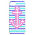 Ancla rosada náutica multi iPhone 5 funda