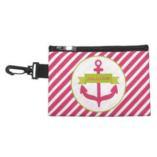 Ancla rosada y bolso diagonal del accesorio de las