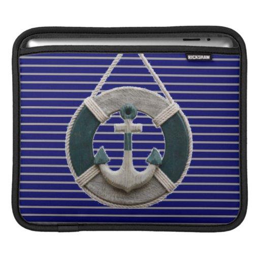 ancla rústica del barco de la Armada de la playa n Mangas De iPad