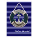 ancla rústica del barco de la Armada de la playa n Invitacion Personalizada