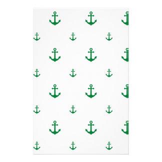 Ancla verde papelería de diseño