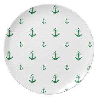 Ancla verde platos