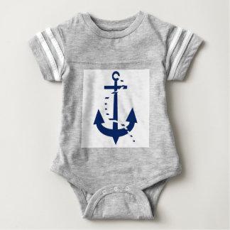 Ancla y línea marina de guerra body para bebé