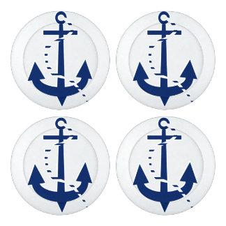 Ancla y línea marina de guerra paquete grande de tapa botones