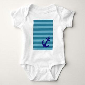 Ancla y rayas body para bebé