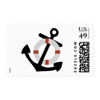 ancla y salvación sellos postales