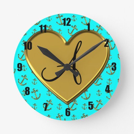Anclas brillantes del oro de la aguamarina del mon reloj
