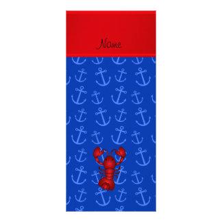 Anclas conocidas personalizadas del azul de la tarjetas publicitarias personalizadas