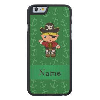 Anclas conocidas personalizadas del verde del funda de iPhone 6 carved® de arce