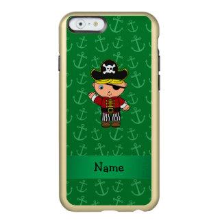 Anclas conocidas personalizadas del verde del funda para iPhone 6 plus incipio feather shine