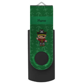 Anclas conocidas personalizadas del verde del memoria USB 2.0 giratoria