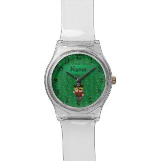 Anclas conocidas personalizadas del verde del pira relojes