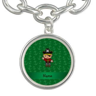 Anclas conocidas personalizadas del verde del pulseras