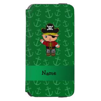 Anclas conocidas personalizadas del verde del funda cartera para iPhone 6 watson