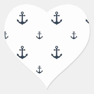 Anclas de la marina de guerra pegatina en forma de corazón