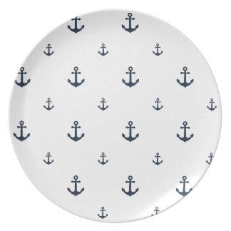 Anclas de la marina de guerra platos