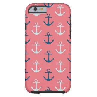 Anclas de la nave en rosa funda resistente iPhone 6