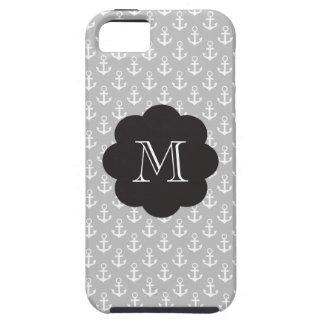 Anclas de muy buen gusto del monograma iPhone 5 Case-Mate carcasas