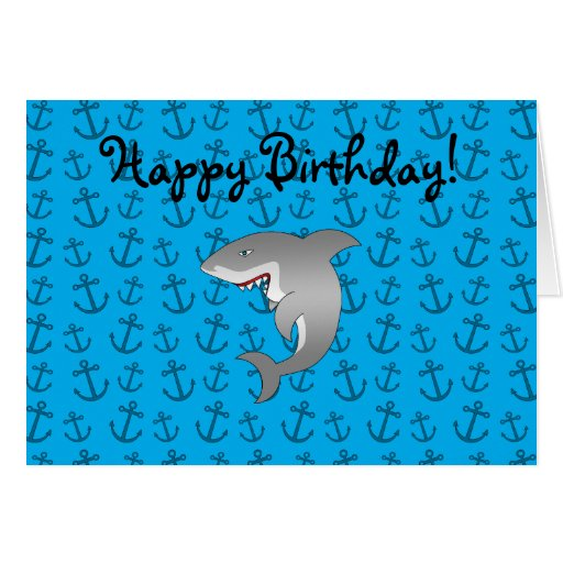 Anclas del azul del tiburón tarjetas