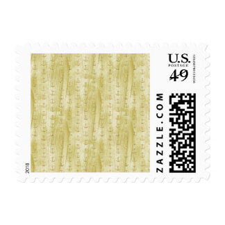 Anclas elegantes del oro sello postal